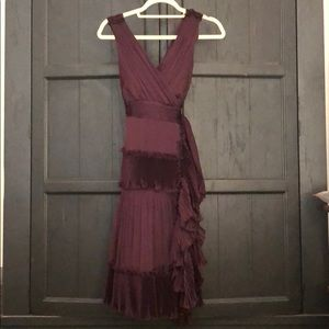 Gorgeous DVF Pleated Ruffle Wrap Dress
